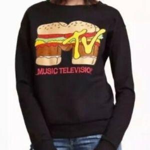 Divided MTV Hamburger Sweatshirt SZ M